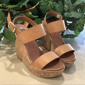 Mossimo Supply Co. Tan Cork Wedge Sandals